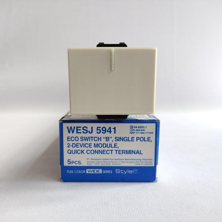 Panasonic Saklar Mata Besar Minimalis Putih - WESJ5941