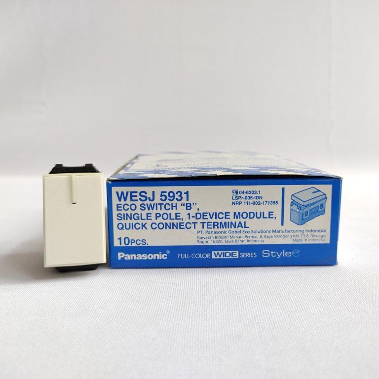 Panasonic Saklar Mata Kecil Minimalis Putih - WESJ5931