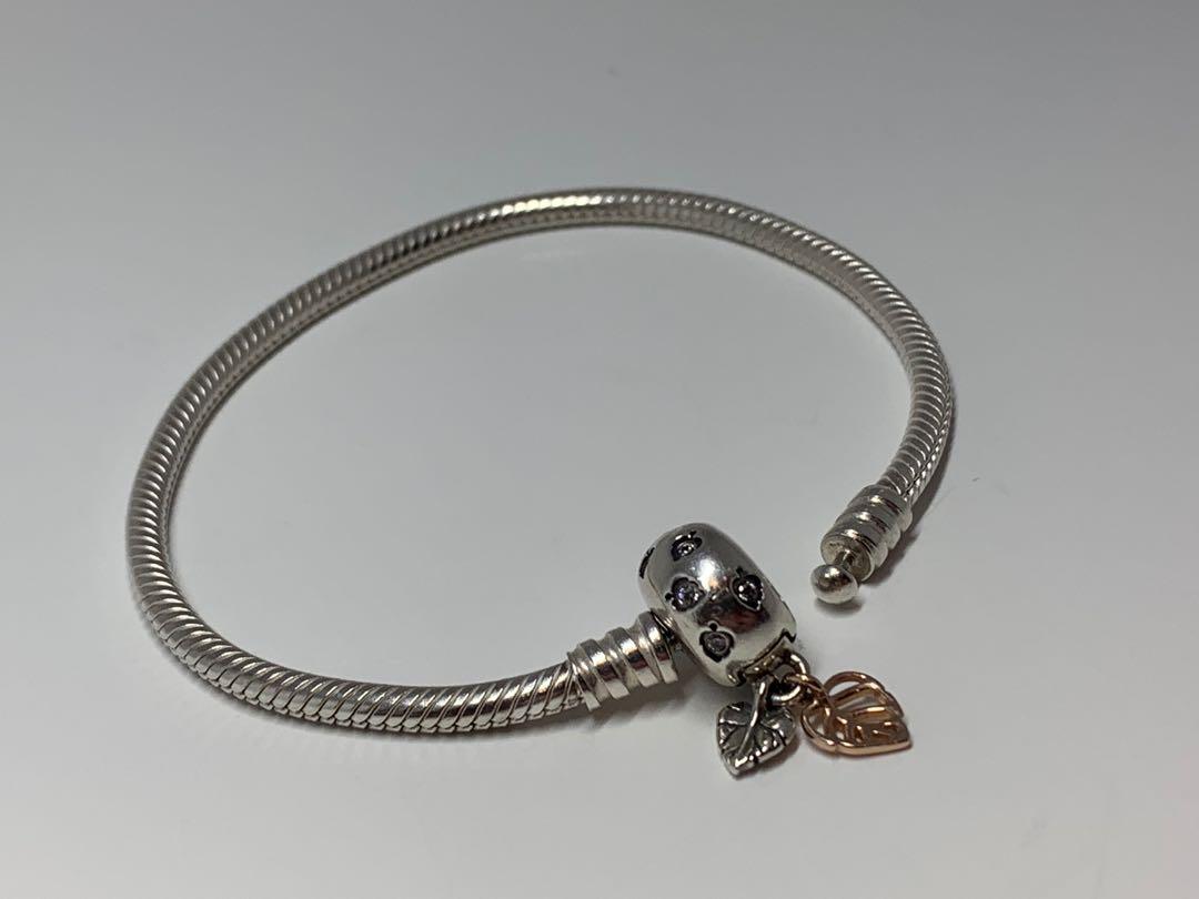 Pandora Bracelet - Leaves Clasp