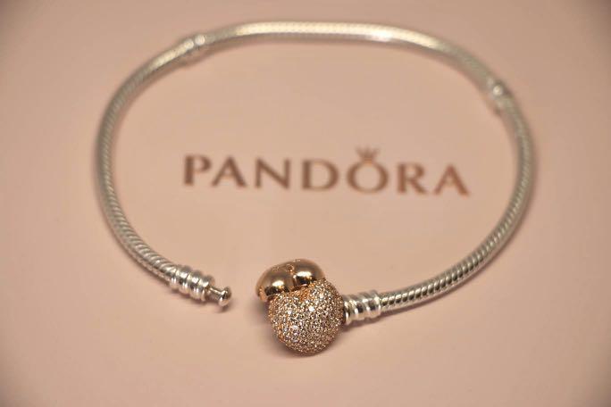 Pandora Bracelet - pace heart clasp