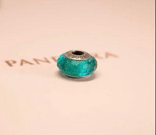 Pandora Charm - Teal Shimmer