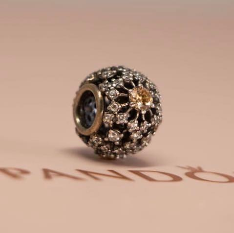 Pandora Charm - Openwork Abstract Pave Bead