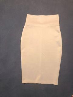 Revamped nude/grey skirt
