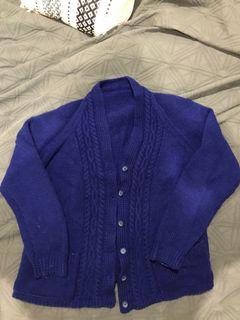 Royal blue vintage cardigan
