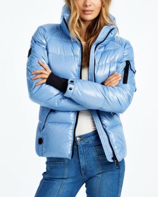 SAM NY Womens Freestyle Jacket Light Powder Blue Size Small