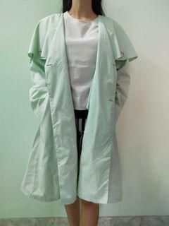 #RamadanSale Sanyo Tokyo New York Mantel (Japan Brand) (coat & blazer hijau susu) (coat korea & japan)