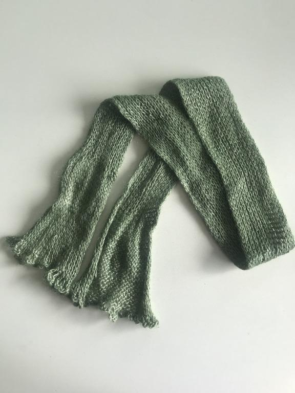 Small Olive Green Scarf