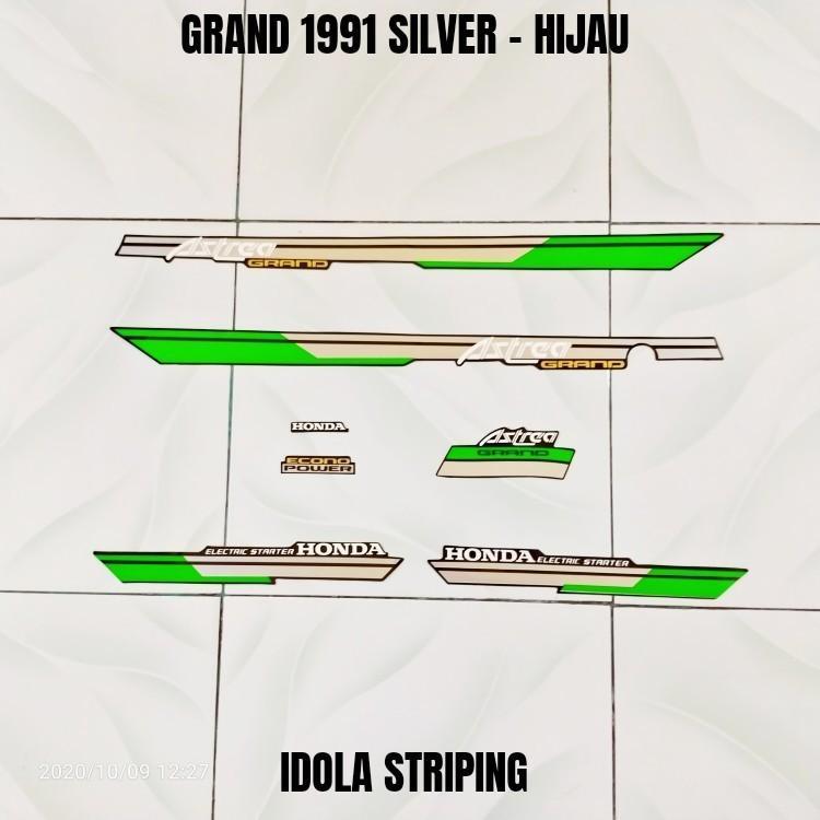 Striping Grand 1991 Silver - Hijau