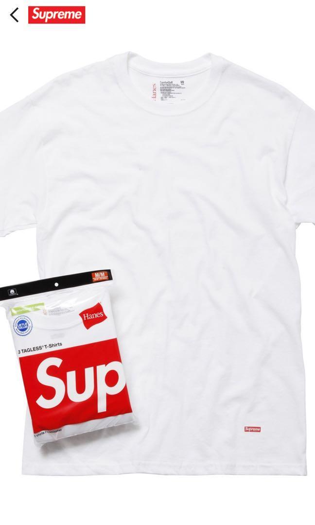Supreme white tee pack(3 tees)