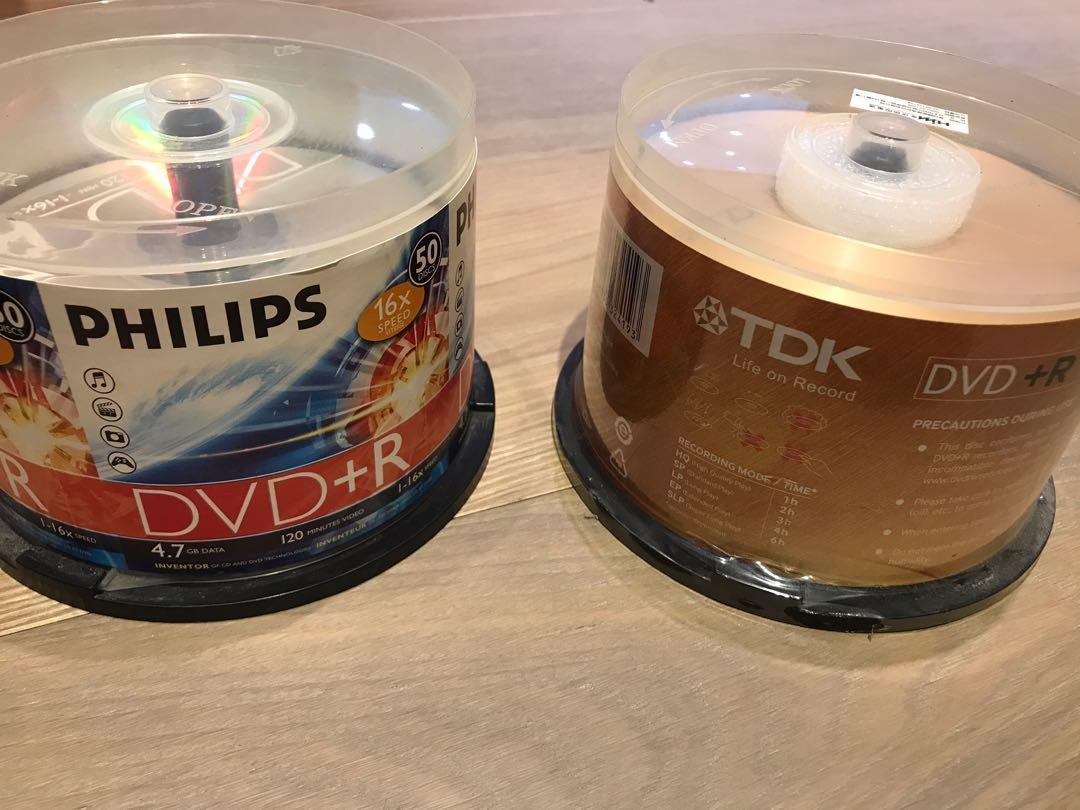 (全新整套出清)TDK DVD+R 燒錄光碟50入 16X 4.7GB+PHILIPS DVD+R 光碟30片(贈CD收納套)