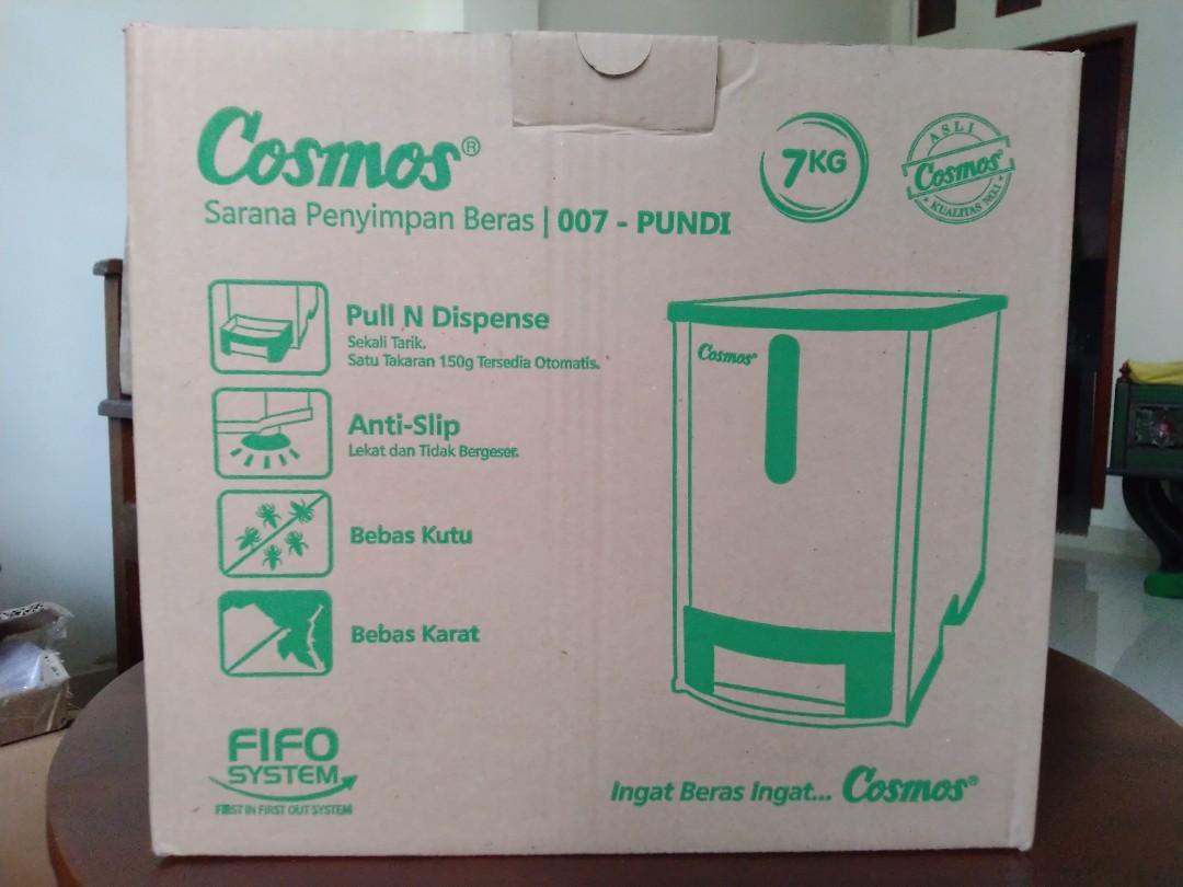 Tempat Beras Cosmos Rice Box 7 kg Pundi 007