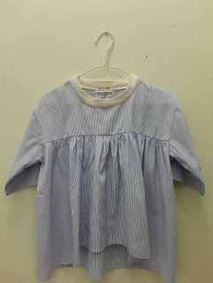 THIS IS APRIL Striped Sky Blue Top