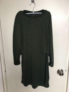 Topshop Forrest Green Dress