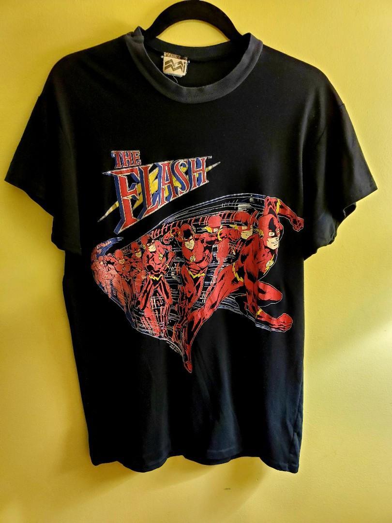 Vintage Rare The Flash 1990 American Television Series Dc Comic T-Shirt