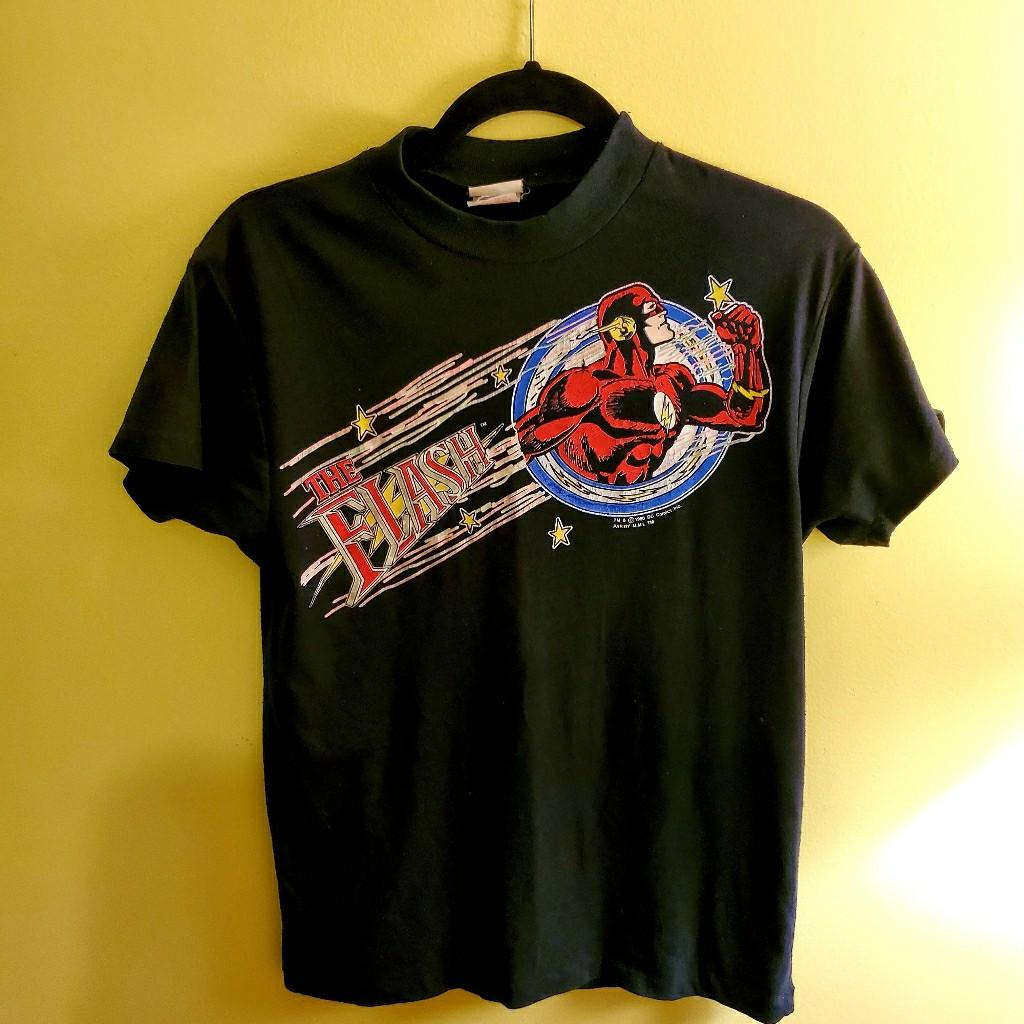 Vintage Rare The Flash 1990 American Television Series Dc Comic T-Shirt
