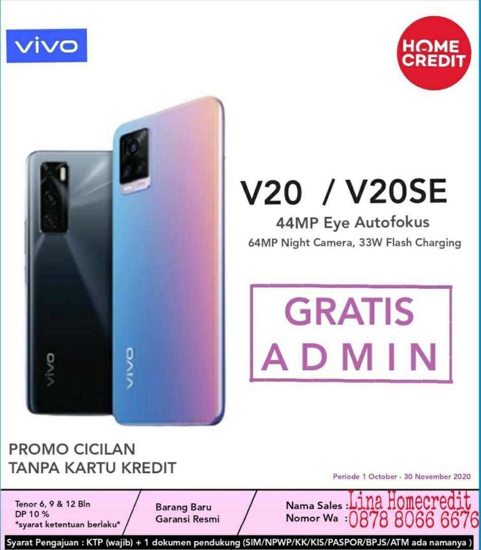 Vivo V20SE Promo DP Ringan + Free Admin Cicilan Tanpa CC