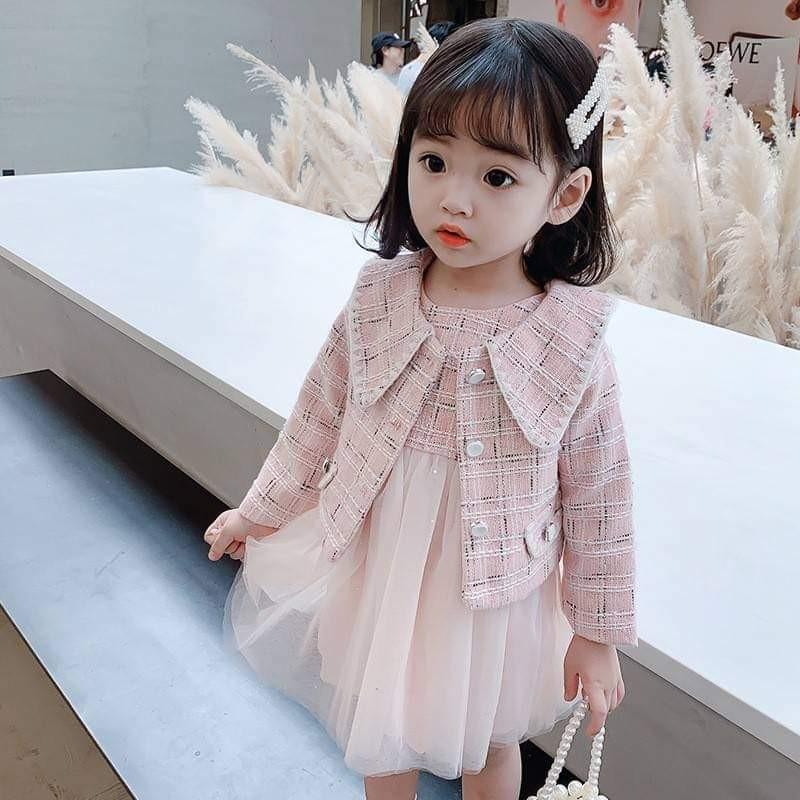 【預購】小香風紗裙洋裝2件組