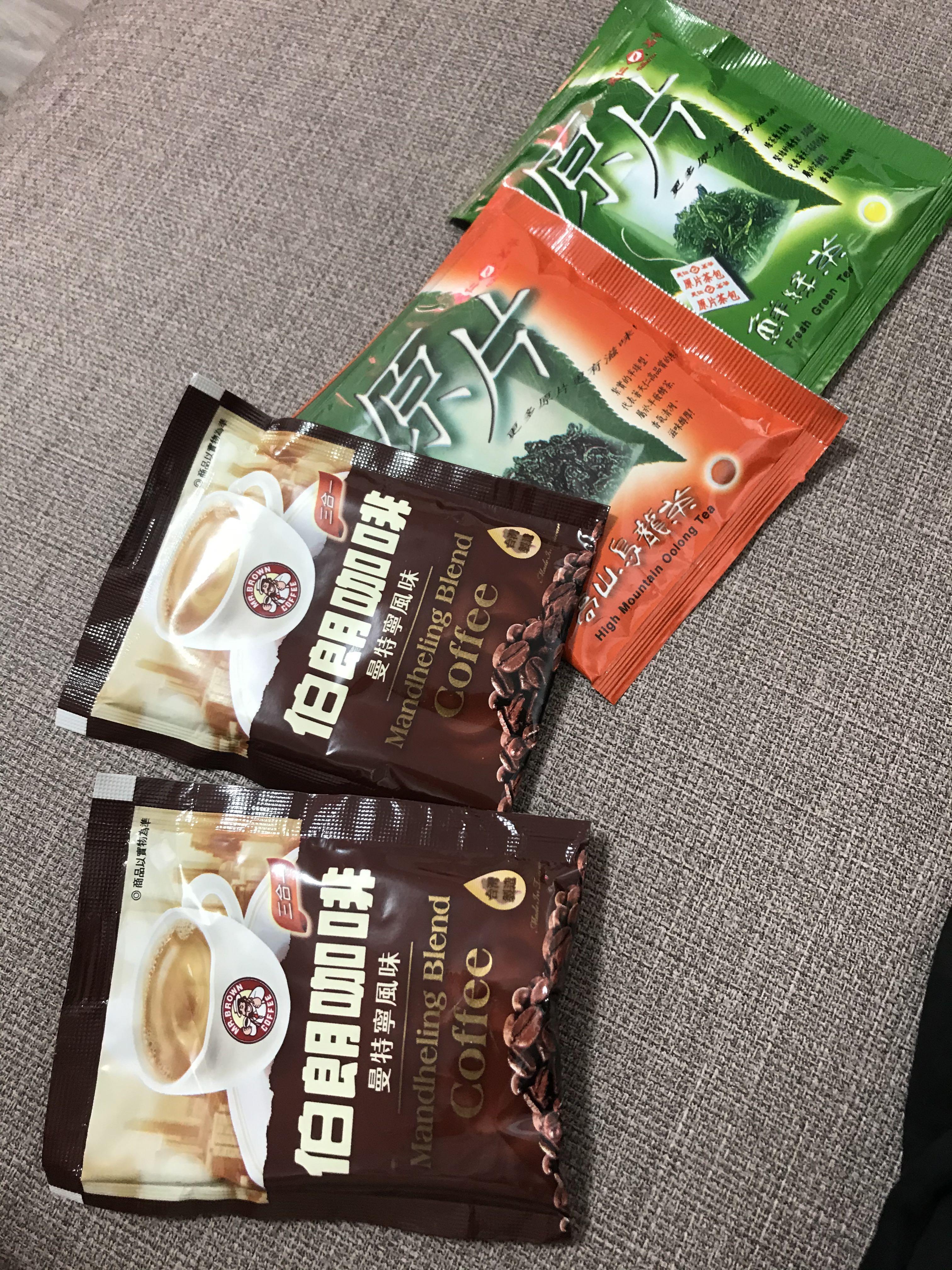 《購買衣服免費送》沖泡包曼特寧伯朗咖啡高山烏龍片原片綠茶