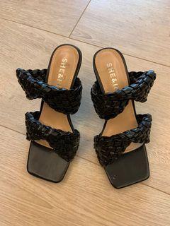 編織高跟涼鞋