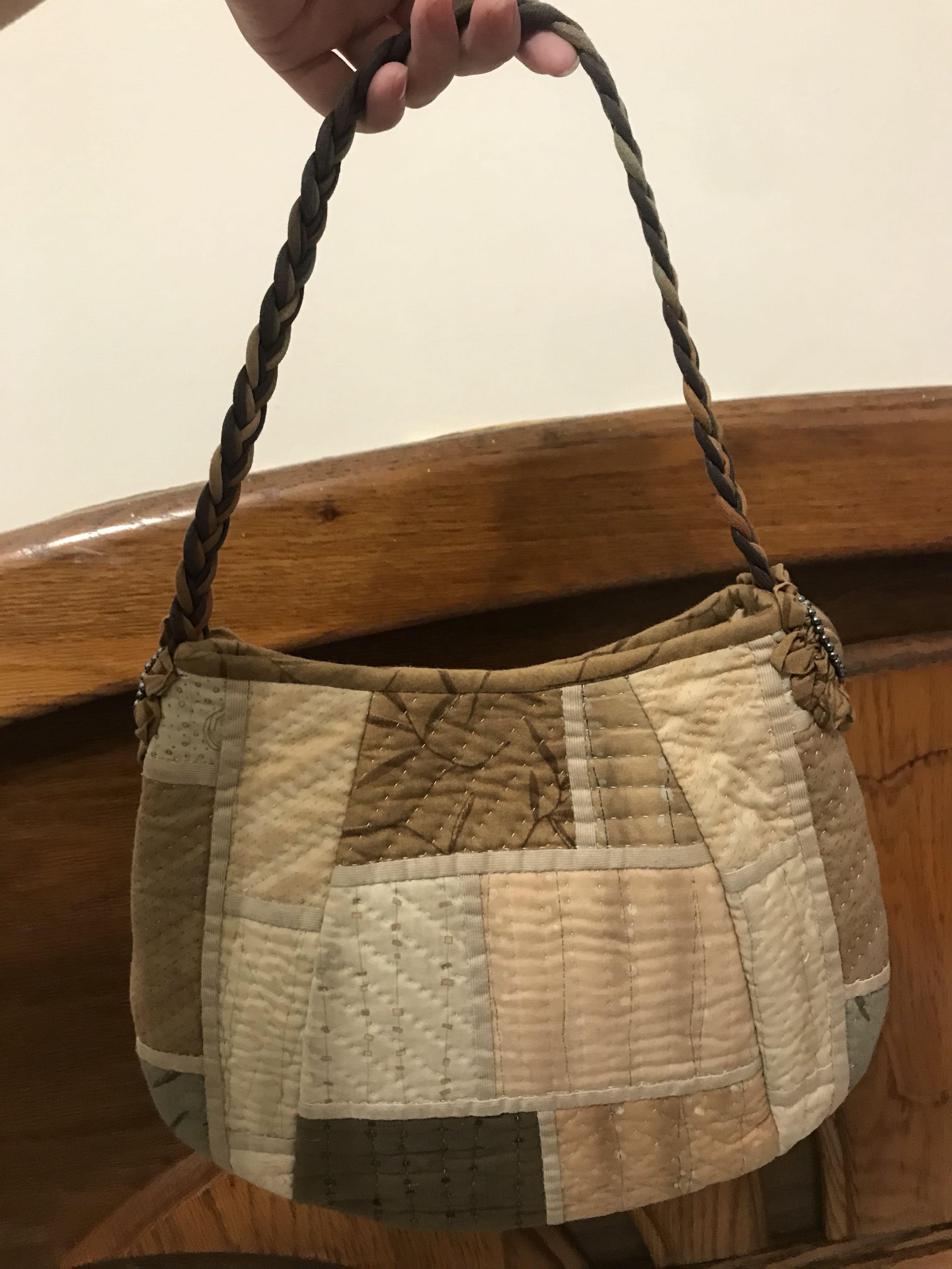 拼布展示品-日本棉布小手提包
