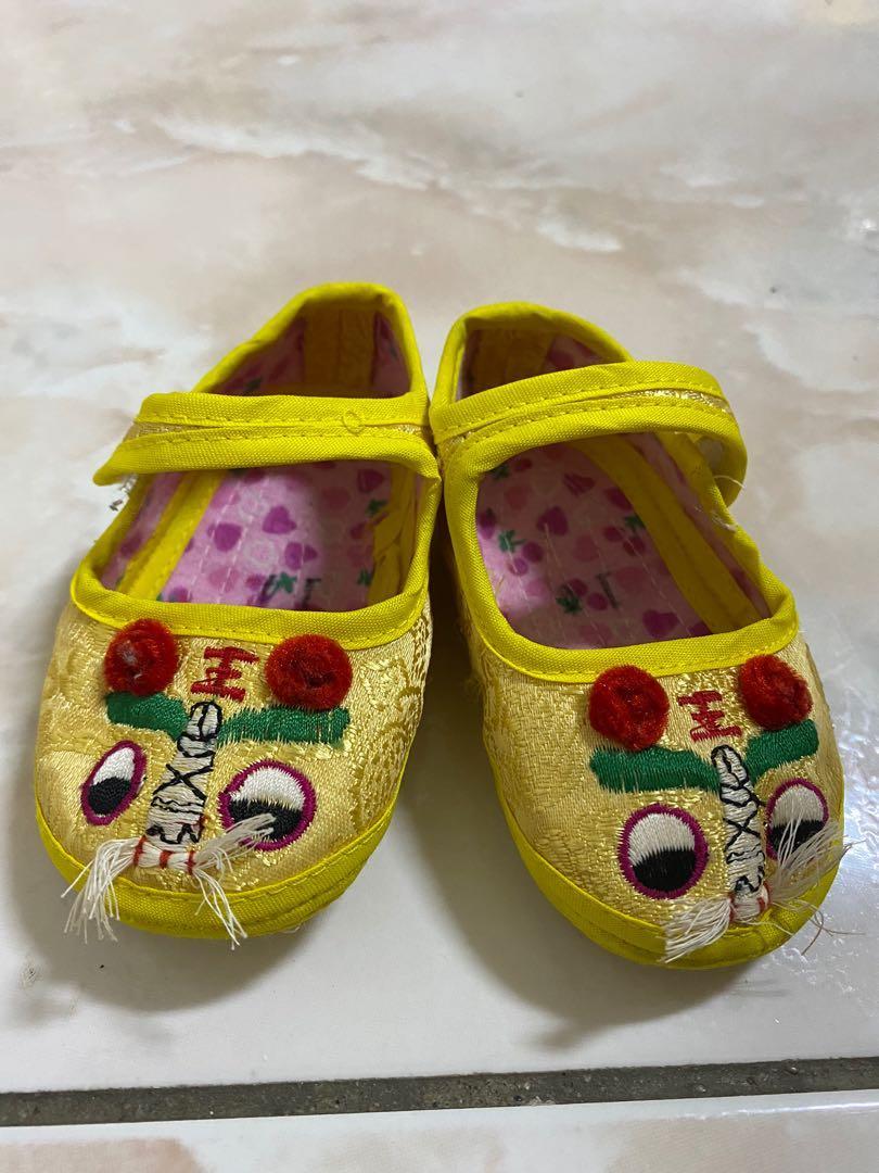 極新🌟中國風 刺繡 嬰兒學步鞋/過年/週歲鞋/抓周鞋