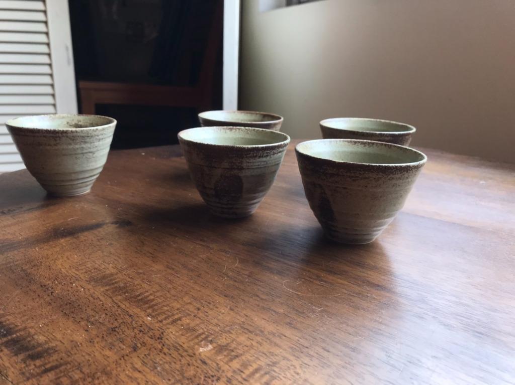 日式 陶瓷 茶杯 5入一組