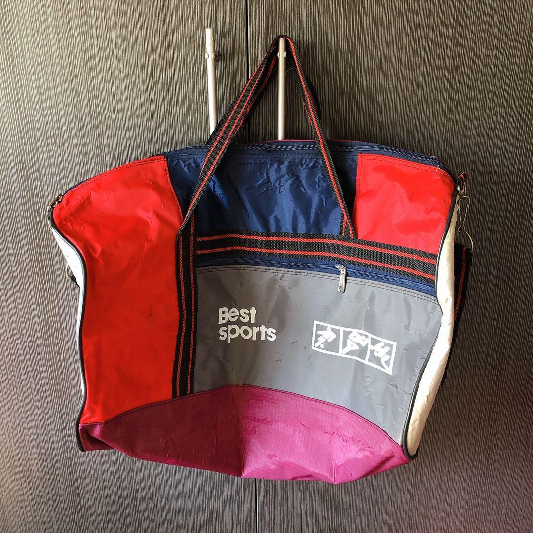 拉鍊背帶側背包 大容量行李袋 旅行袋 行李包 旅行包 健身包 游泳包 運動包 防水行李包