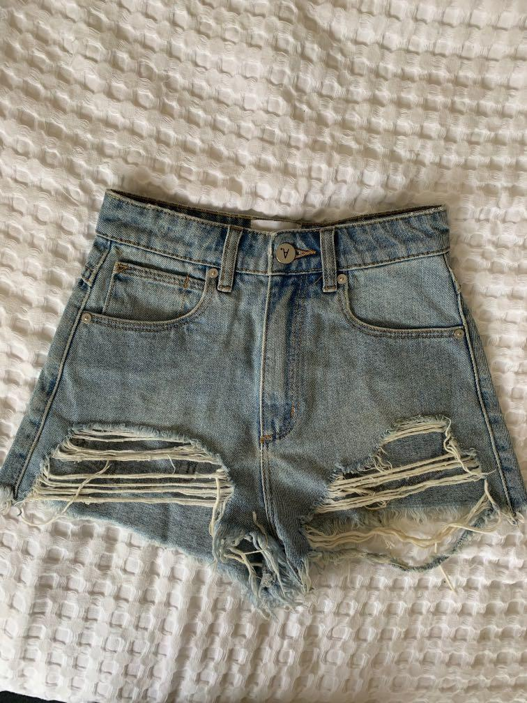 Abrand high relaxed denim shorts