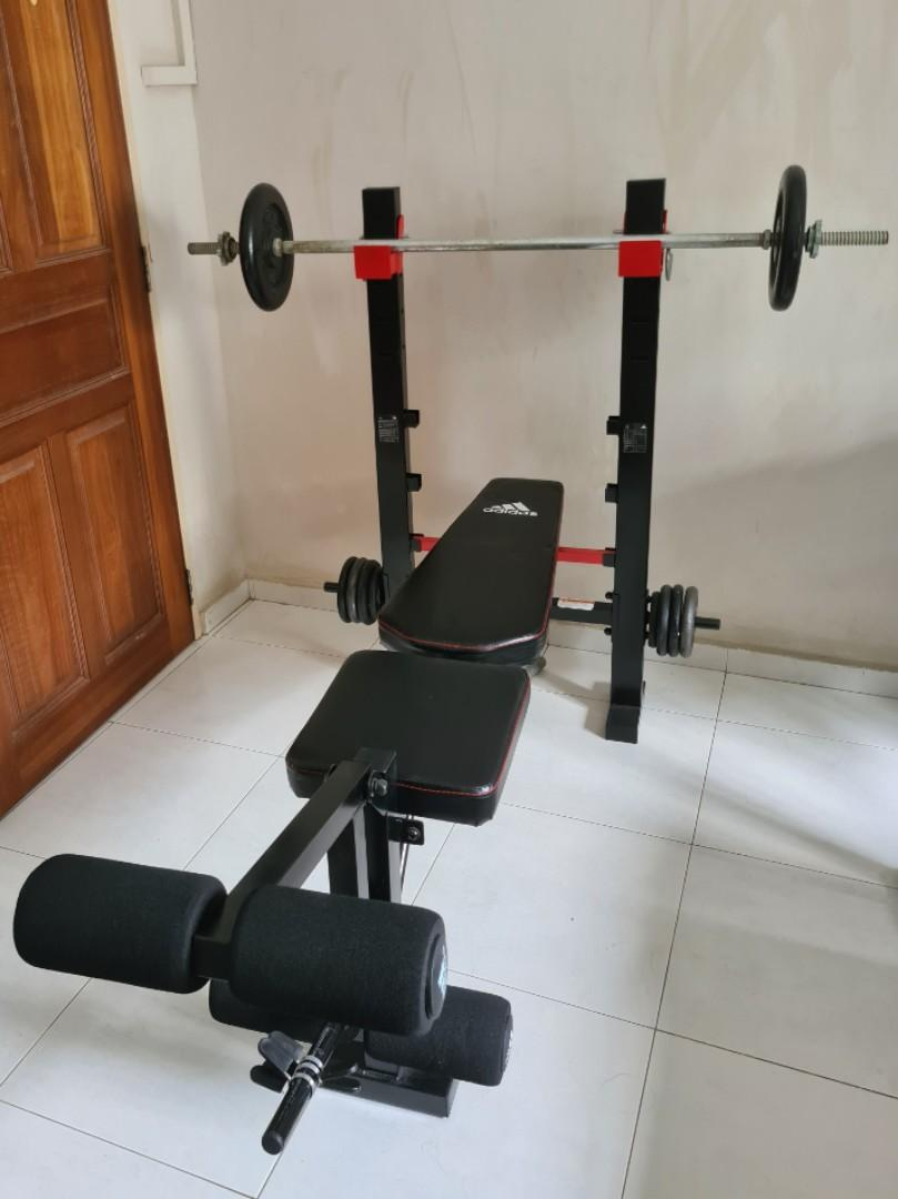 grueso Transporte De todos modos  ADIDAS SPORTS TRAINING BENCH AND WEIGHTS, Sports, Weights & Gym Equipment  on Carousell
