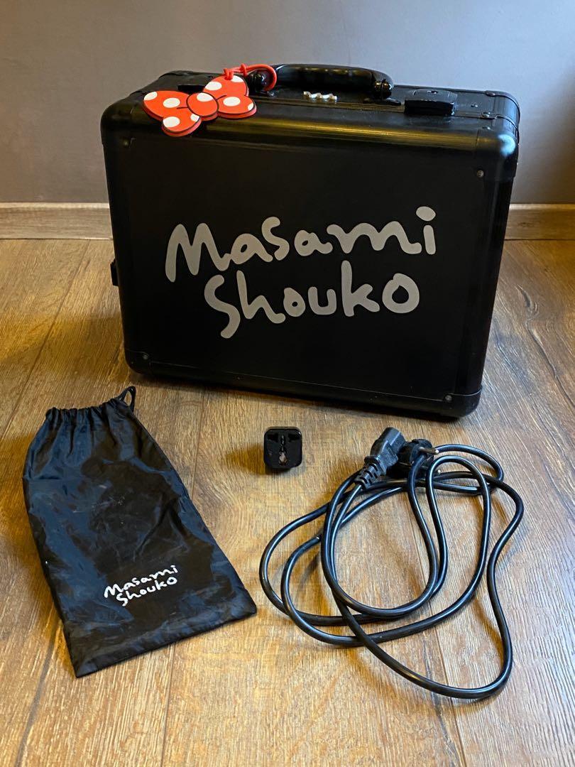 Beauty Case Masami Black Signature L Box with Flat LED (3 Colors, dimmable) | Masami Shouko, Beauty Box, Beauty Case, MUA, lighting, Mirror, Travel Bag, Koper Makeup, Vanity Mirror #Special1010