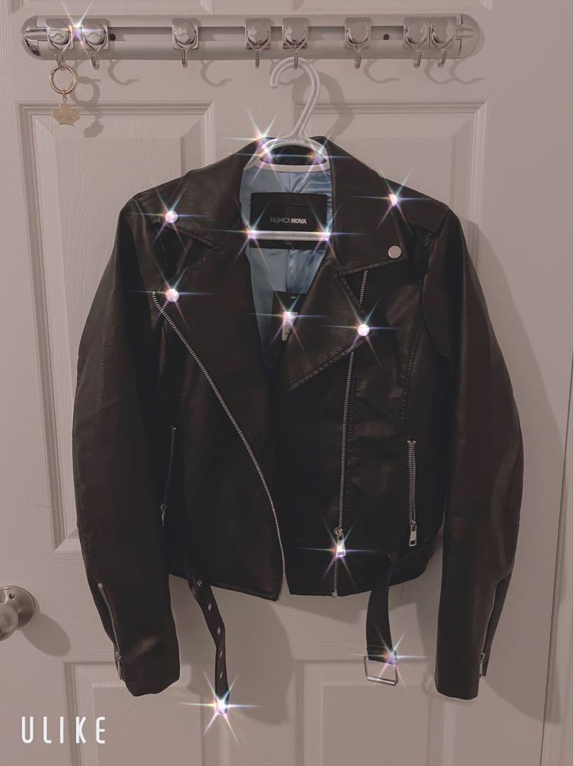 Brand new leather jacket with tag