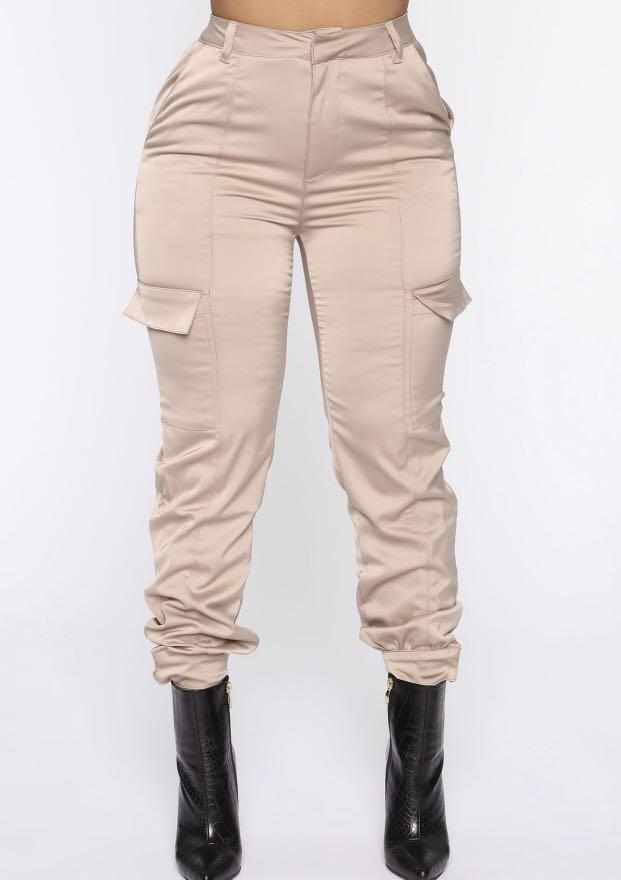 Brand new size small satin joggers