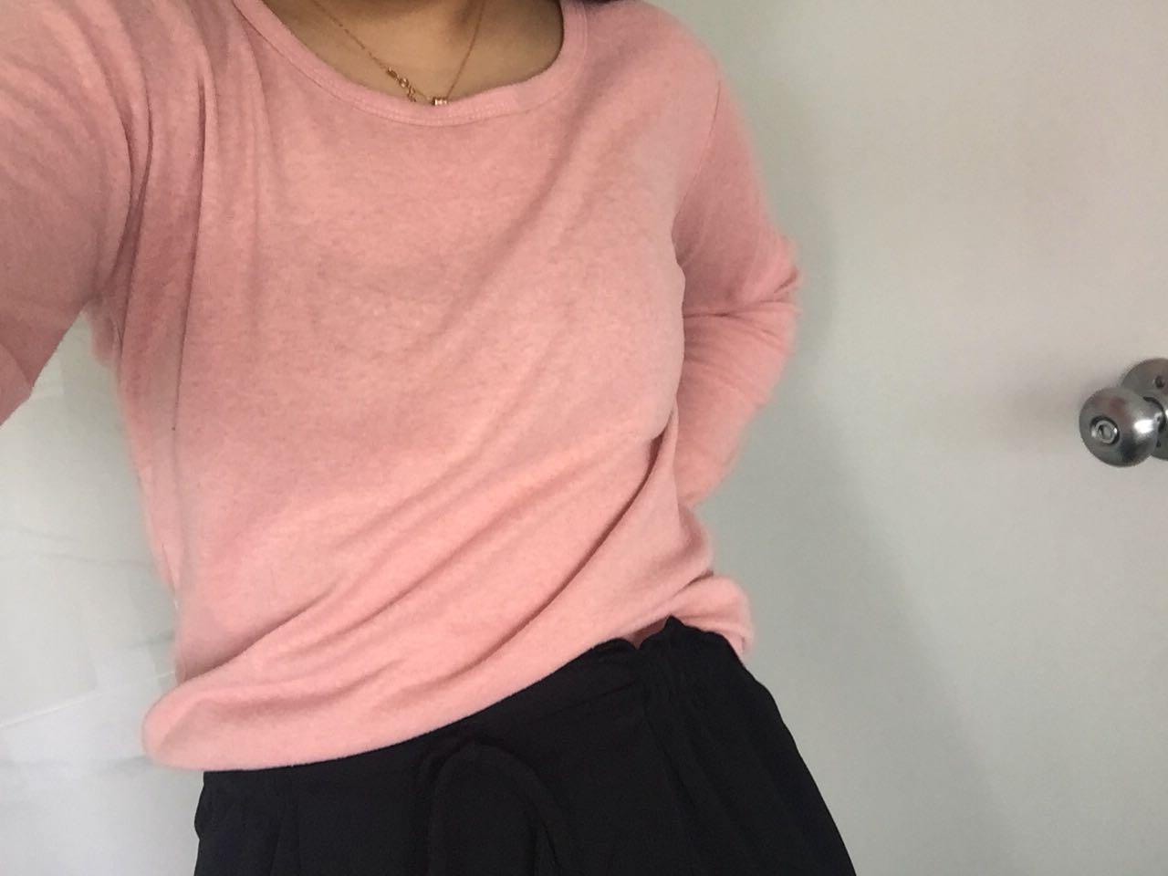 Comfy blush cotton shirt