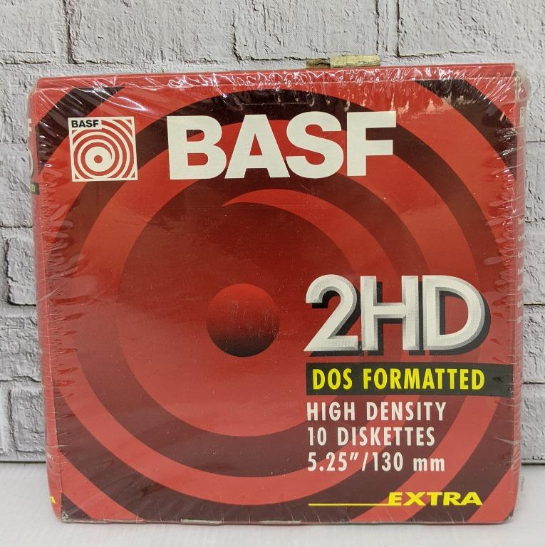 """Diskettes New Basf 2HD DOS Double Sided 3.5"""""""