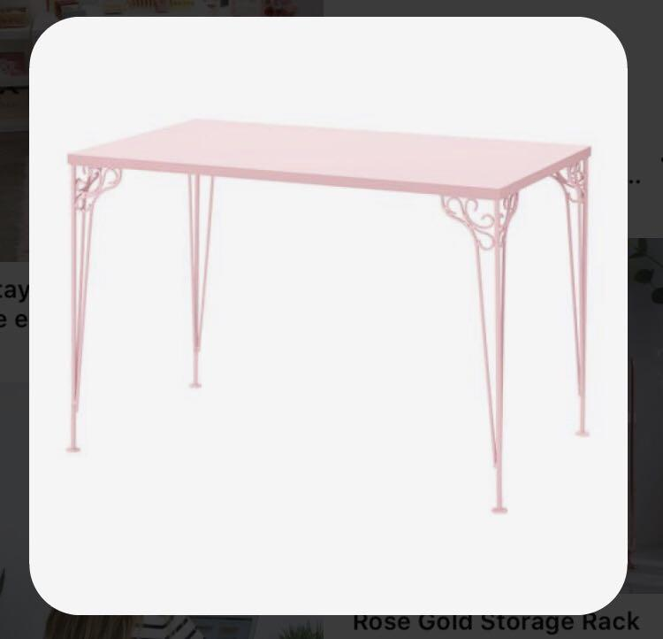 Elegant pink table / desk