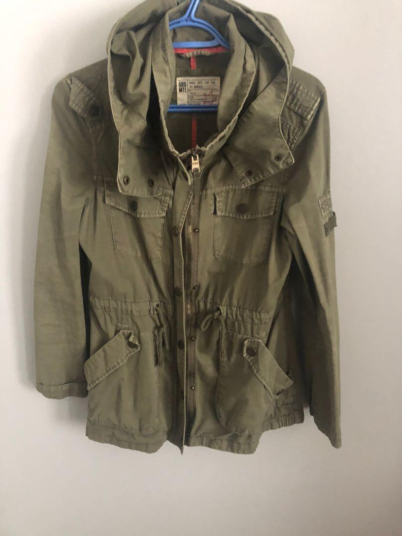 Fall Green Parka - Size: Small