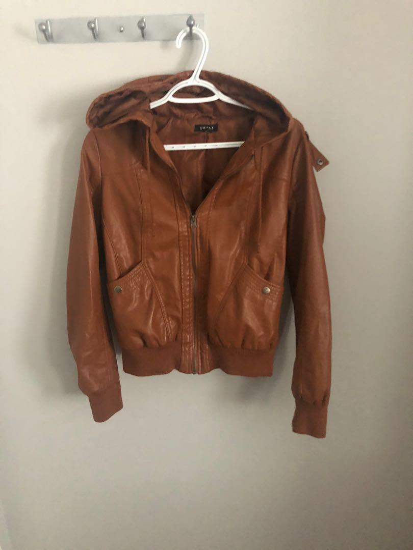 Faux Leather Brown Jacked