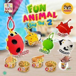 Fun animal bag tag kidzu bento