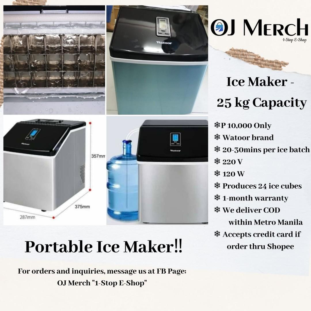 Ice Maker Machine 25kg Capacity Home Furniture Home Appliances Other Kitchen Appliances On Carousell