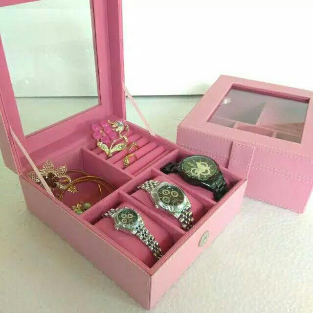 Jewelry Box kotak perhiasan mix jam
