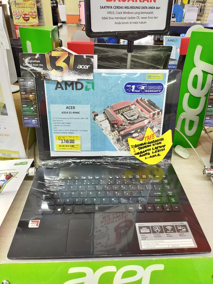 Kredit Laptop Acer A314 AMD A4