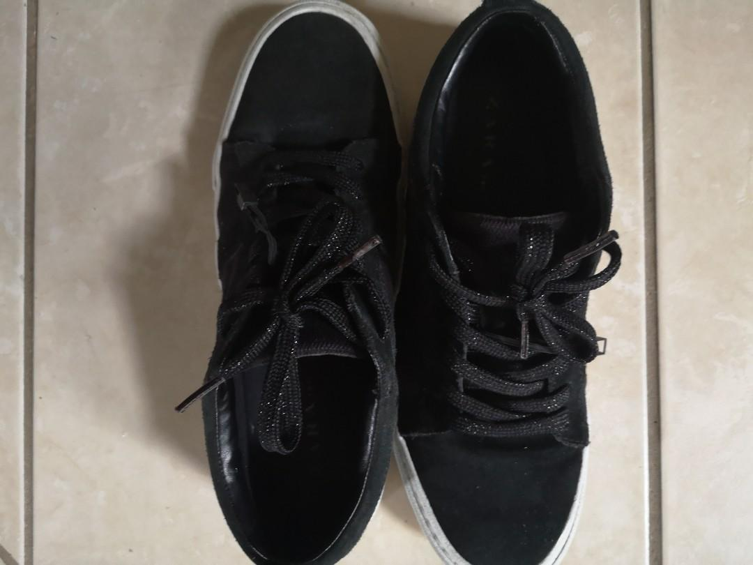 Leather Sneakers - ZARA  size 8-9