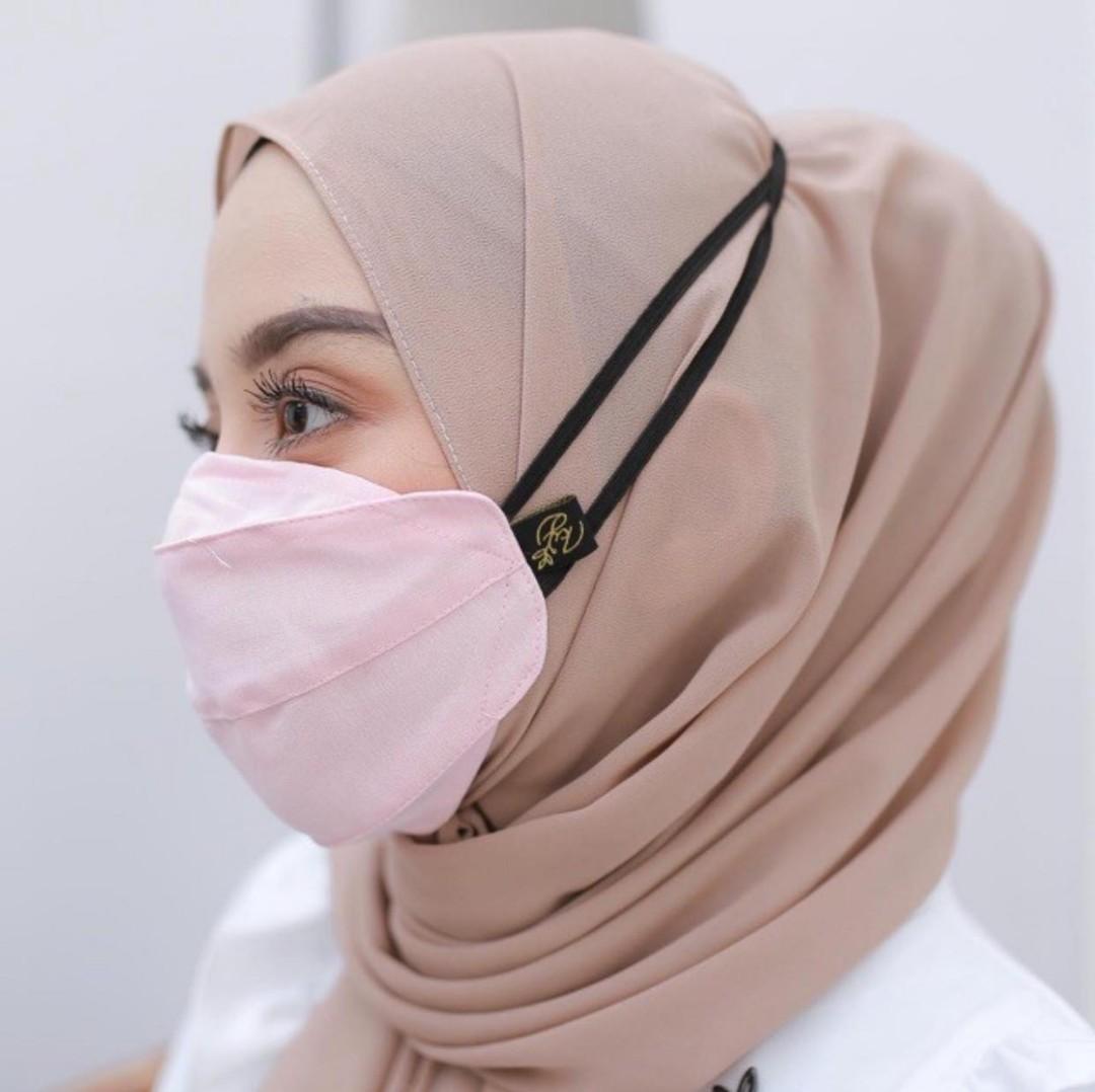 masker 3ply koyu hijab 16pcs