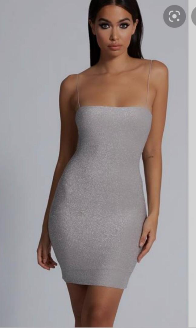 meshki mia shimmer dress