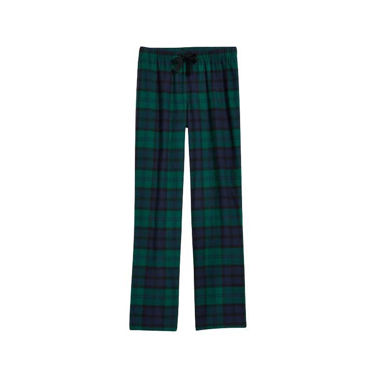 Old Navy Patterned Flannel Sleep Pants Pajamas, PJ Green Plaid Tartan Women