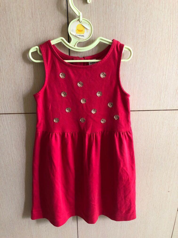Oshkosh紅色亮片洋裝