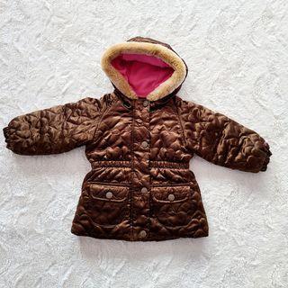 OshKosh Girls faux fur trim hooded puffer jacket