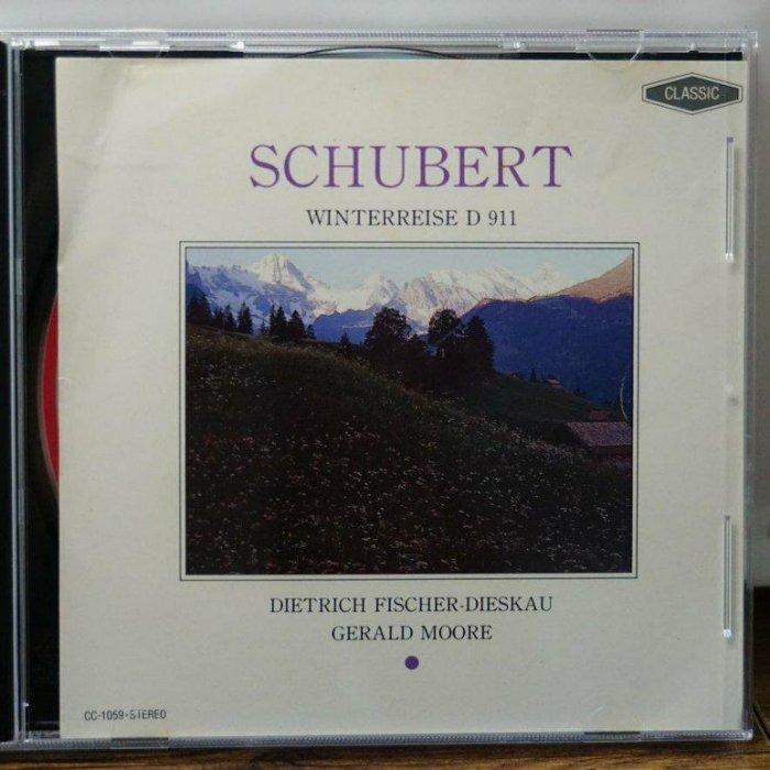 舒伯特SCHUBERT D911 冬之旅 / 聲樂(人聲)/日版/CD/FINDINGMUSIC #二手價