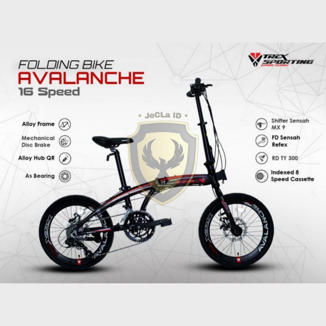 Sepeda Lipat 20 TREX AVALANCHE Promo Home Credit DP Cuma 175rb