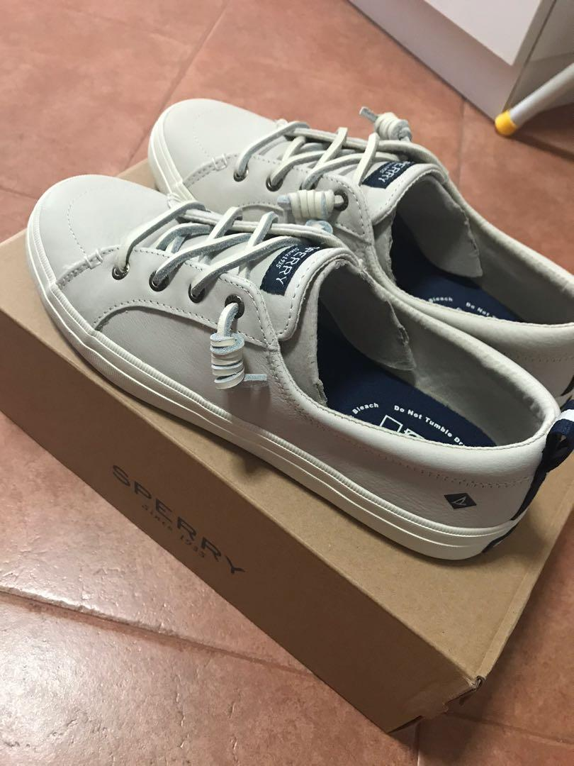 Sperry Crest Vibe Ivory Leather Sneaker